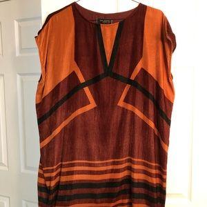 Max Studio London dress, fully lined, L, oversized